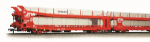 38-250 Bachmann IPA Twin Pack Double Deck Car Transporter 'STVA' Red